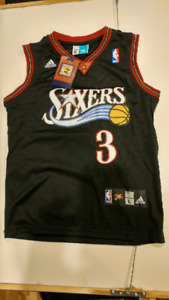 Kids Authentic Allan Iverson basketball jersey