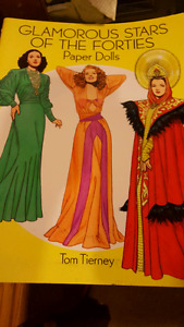 GLAMOROUS STARS OF THE FORTIES PAPER DOLLS TOM TIERNEY 1994