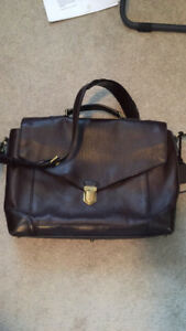Coach leather messenger bag
