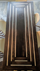 Custom Made Wood Tables and Eiffel Chairs For Sale