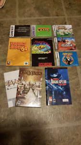 User and Game Manuals (Gameboy, Donkey Kong 64, and More)