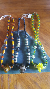 Healing bead necklaces with matching earrings