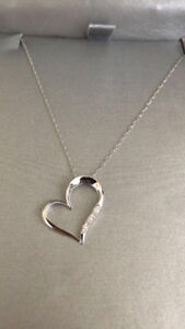 Beautiful heart necklace and earrings for sale- both for $250