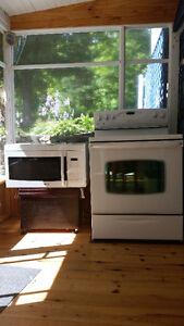 DUO Four cuisinière + Micro-onde hotte MÉGA propre