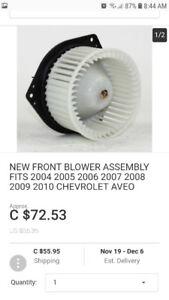 2004 - 2010 Chevy aveo blower motor