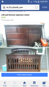 Crib and Change table dresser