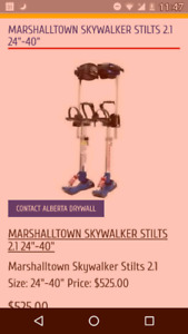 "MARSHALLTOWN SKYWALKER STILTS 2.1 24""-40"""