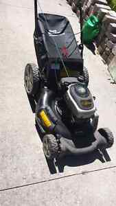 Gas lawn mower.. Yardworks with bag.. like new $150