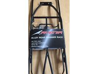 Bike - bicycle - alloy rear pannier carry rack