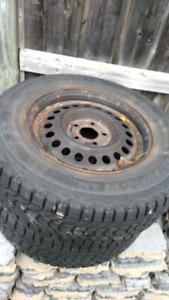195/70 r 14 ........2 -Winter tires on 5 bolt rim