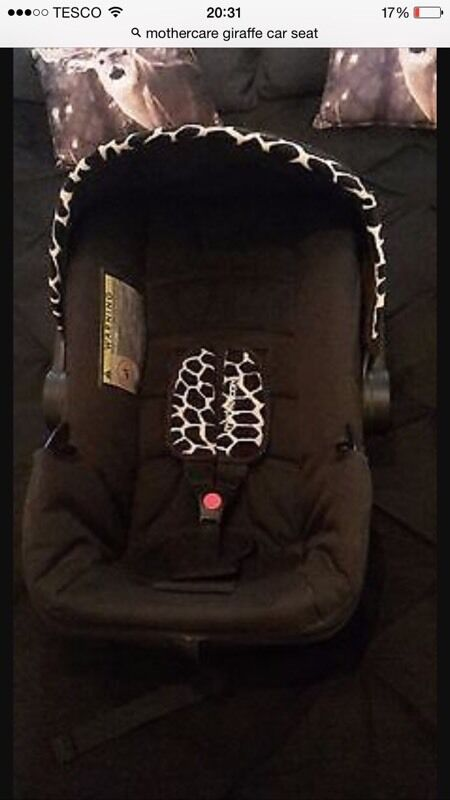Mothercare giraffe print car seat | in Huntingdon, Cambridgeshire ...
