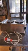 Cucina elettrica da banco due fuochi usata