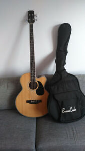BeaverCreek Acoustic-Electric Bass Guitar