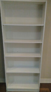 Used white book shelf for sale $10