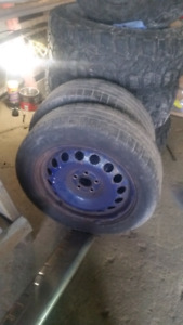 5x100 steelies with winters