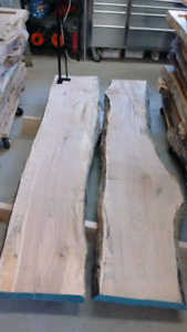 Kiln dried live edge wood slabs and boards