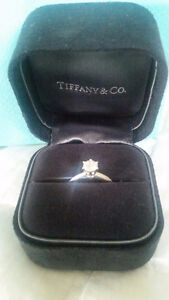 Brand New Tiffany Solitaire Ring for SALE. with a certification