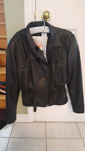 Women's Leather Motorcycle Jacket and Chaps