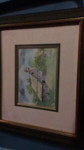 Framed painting local artist
