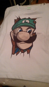 Luigi and link tshirt boys
