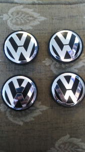 VW VOLKSWAGEN SET OF 4-60mm CENTRE WHEEL HUB CAP REPLACEMENTS.