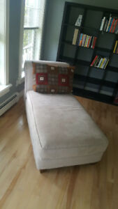 Beige chaise lounge (barely used)