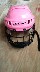 Casque hockey rose ccm small
