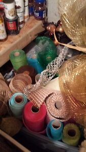 VARIETY OF CRAFT SUPPLIES AND CRAFTS