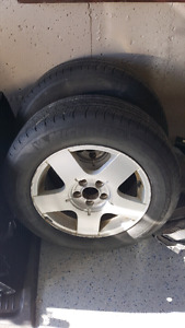 VW JETTA, GOLF MICHELINS 195-65-15 WITH 85% TREAD ON 5X100 ALOYS