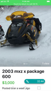 2003 mxz 600 x package