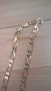 14K thick gold filled Figaro Link Necklace Chain Jewelry
