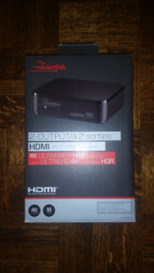 Rocketfish 2-Output HDMI Splitter 4K Ultra HD/ HDR Compatible