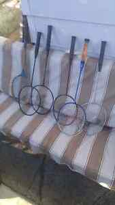 6 badminton rackets $10 for all