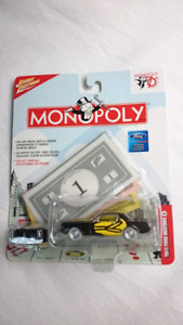 JOHNNY WHITE LIGHTNING 1965 FORD MUSTANG DIE CAST MONOPOLY