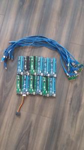 PCIE 16x to 1x 4pin Molex Risers