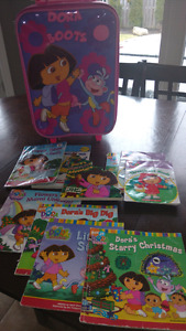 Dora fans here you go! Suitcase and reading books