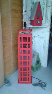 English style phone booth lamp/cd holder
