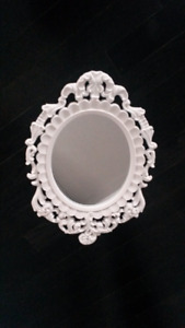 White Vintage Mirror  MUST GO ASAP!