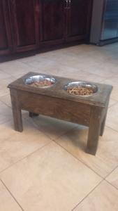 Raised dog feeders