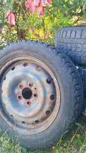 205 55r 16 in rims steelie with winter tires 5 bolt