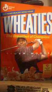 Tiger woods wheaties collection