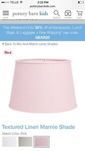 Pottery Barn Kids lamp shade in pink