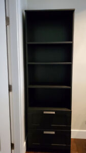 Bookcase with drawers