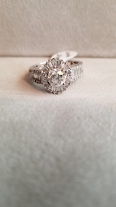 18KW DIAMOND ENGAGEMENT RING-APPRAISED AT $18,850