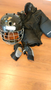 Kids hockey equipment- sized for approx 3-5 year old.