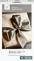 Fairmont stay gift card