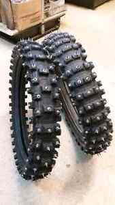 Studded ICE/SNOW Dirtbike Tires!