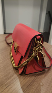 GIVENCHY RED Leather Satchel Bag