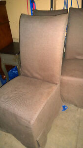 Slip Covered Dining Chairs from Finesse (4) Edmonton Edmonton Area image 1