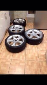 "Lexus is200 4 x 17"" alloy wheel set 114.3 with tyres 98-05 toyota mazda honda is 200 is300"